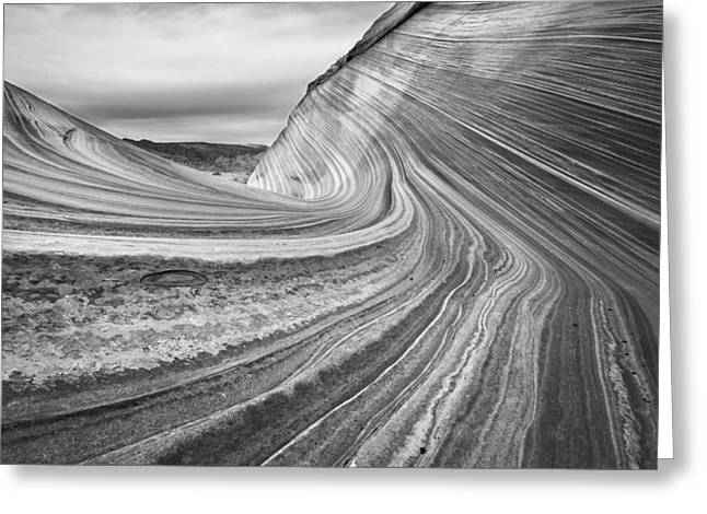 Paria Greeting Cards - Sandstone in Black and White Greeting Card by Rory Wallwork