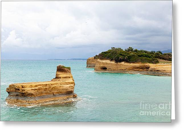 Peaceful Scenery Greeting Cards - Sandstone island Greeting Card by Paul Cowan