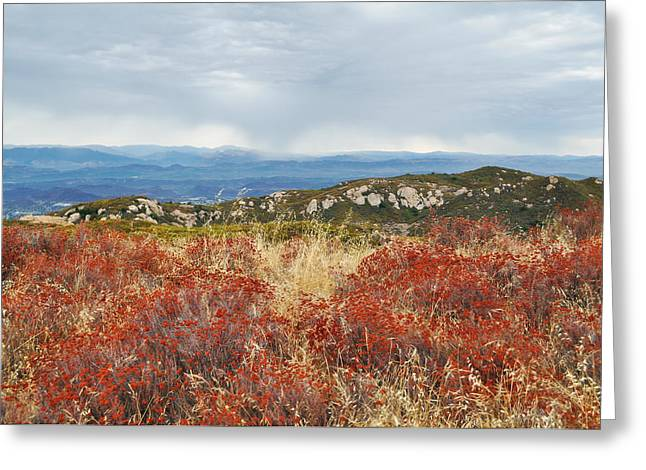 Recently Sold -  - Ventura California Greeting Cards - Sandstone Peak Fall Landscape Greeting Card by Kyle Hanson