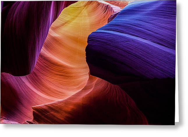 Sandstone Photographs Greeting Cards - Sandstone Rainbow Greeting Card by Peter Irwindale