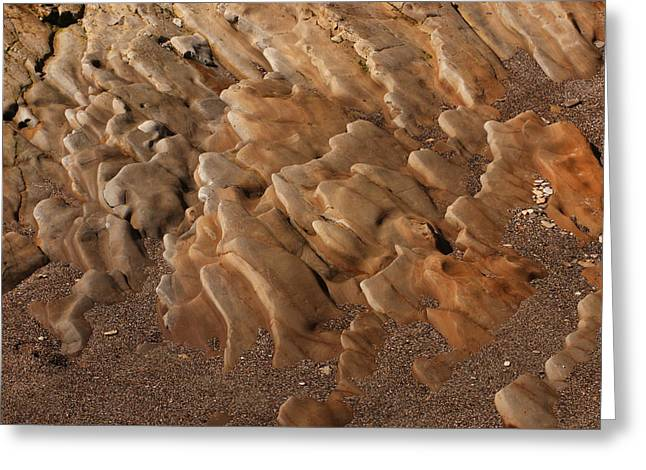 Water Worn Sandstone Greeting Cards - Sandstone Ripples Greeting Card by Bob and Jan Shriner