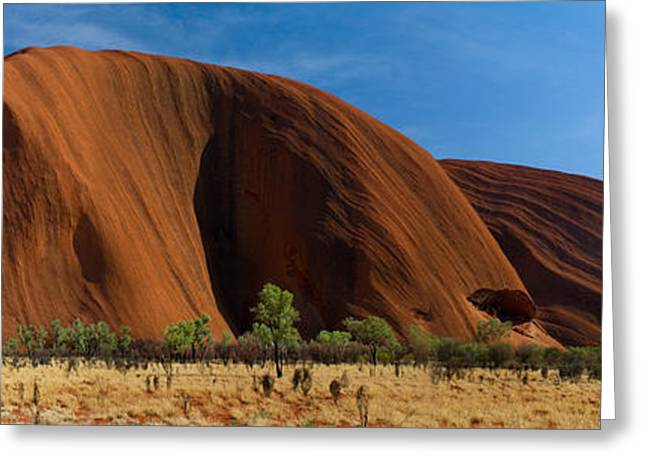 Ayers Rock Greeting Cards - Sandstone Rock Formations, Uluru Greeting Card by Panoramic Images