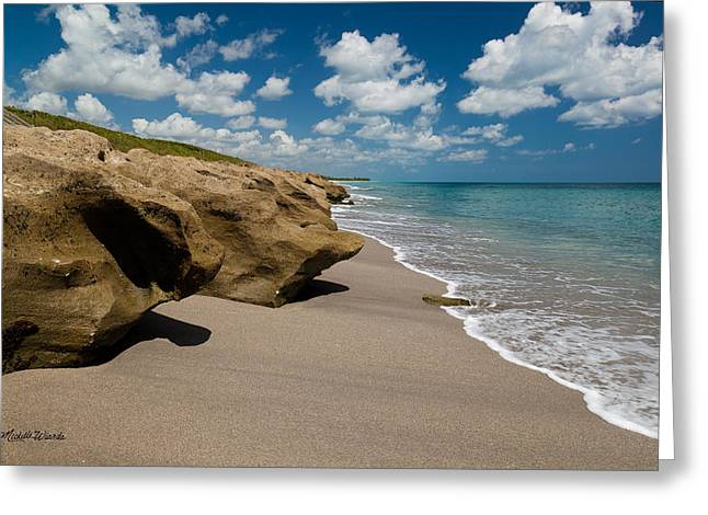 Michelle Greeting Cards - Sandstone Shoreline Greeting Card by Michelle Wiarda