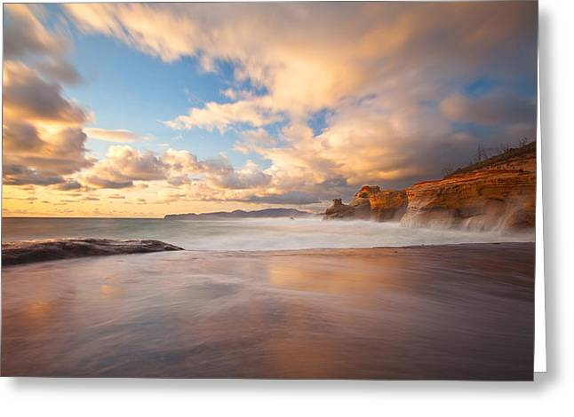 Pacific Northwest Greeting Cards - Sandstone Shores Greeting Card by Darren  White