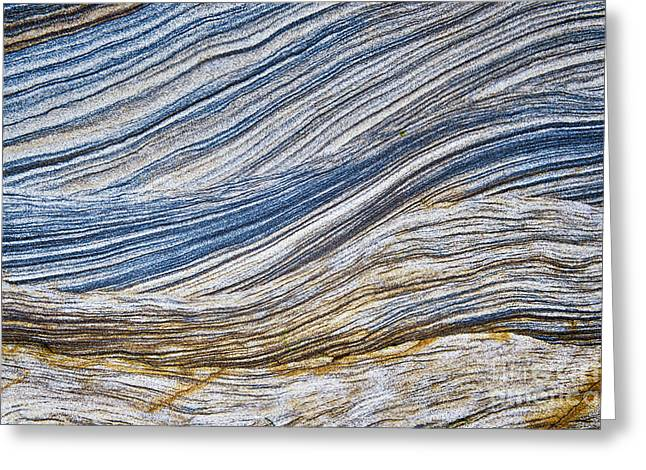 Geological Greeting Cards - Sandstone Strata Greeting Card by Tim Gainey