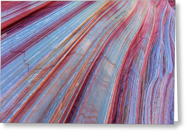 Sandstone Striping In The Vermillion Greeting Card by Chuck Haney