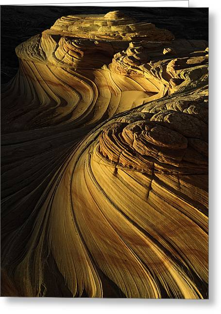 Coyote Buttes Greeting Cards - Sandstone Swirls Greeting Card by Joseph Rossbach