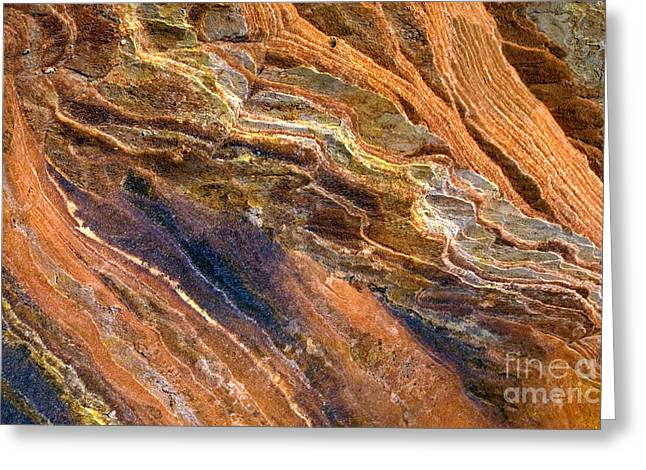 Sandstone Photographs Greeting Cards - Sandstone Tapestry Greeting Card by Mike  Dawson
