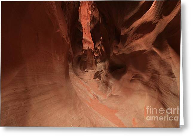 Narrow Canyons Greeting Cards - Sandstone Twists And Turns Greeting Card by Adam Jewell