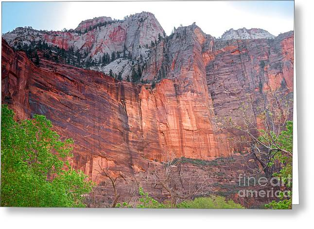 Haybale Greeting Cards - Sandstone Wall in Zion Greeting Card by Robert Bales
