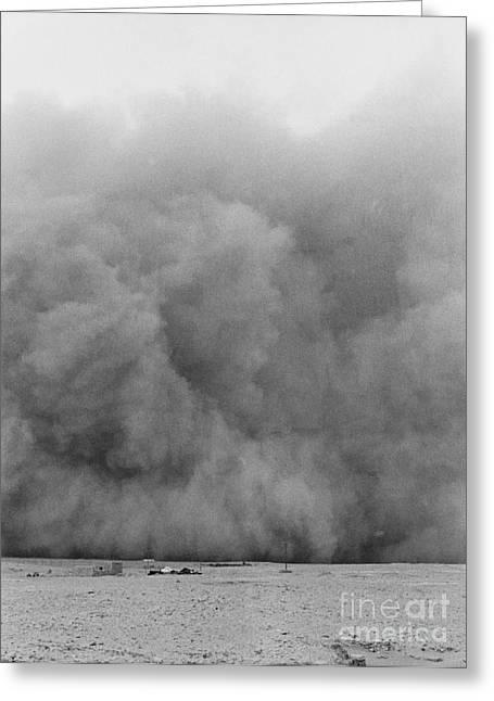 Sandstorm Greeting Cards - Sandstorm in Mersa Matruh-Egypt Greeting Card by Hubertus Kanus