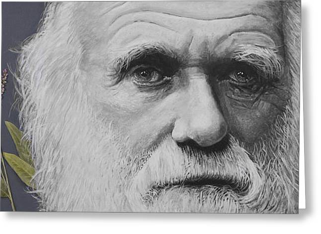 Cosmos Paintings Greeting Cards - Sandwalk Wood- Charles Darwin.  Greeting Card by Simon Kregar