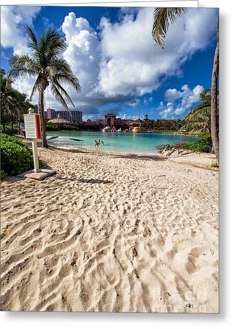 Residential Structure Digital Greeting Cards - Sandy Beach 3 Greeting Card by M and L Creations