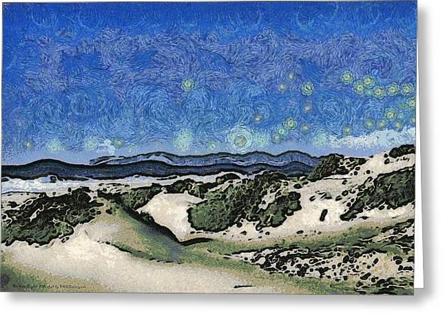 Ocean Photos Digital Greeting Cards - Sandy Beach At Guadalupe California Abstract Greeting Card by Barbara Snyder