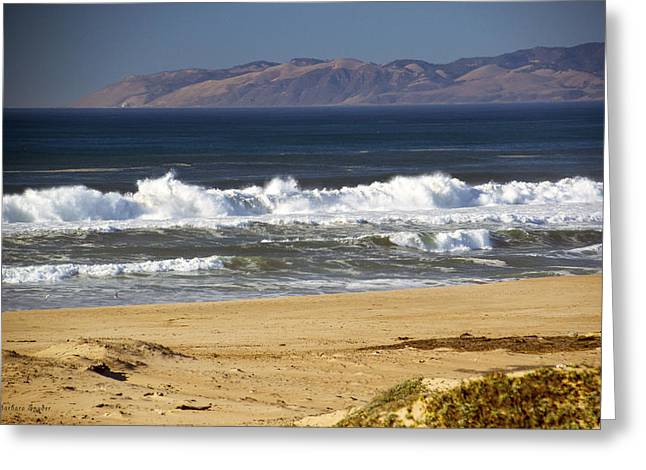 Ocean Photos Digital Greeting Cards - Sandy Beach At Guadalupe California Greeting Card by Barbara Snyder