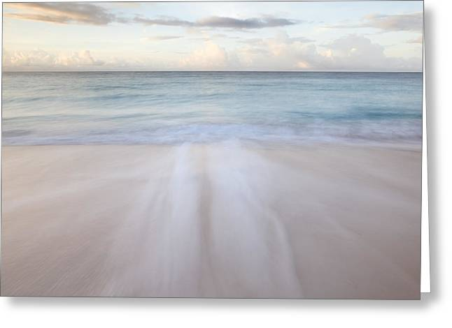 Subtle Colors Greeting Cards - Sandy beach at sunrise - Barbados Greeting Card by Matteo Colombo
