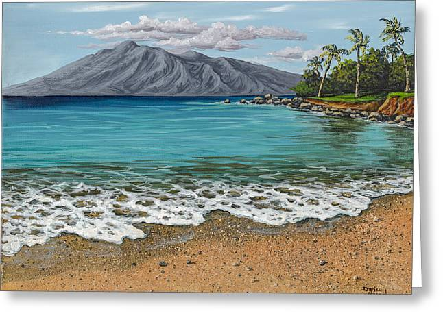 Art In Acrylic Greeting Cards - Sandy Beach Greeting Card by Darice Machel McGuire