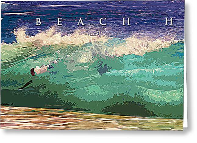 Poster Graphics Greeting Cards - Sandy Beach Hawaii Greeting Card by Ron Regalado