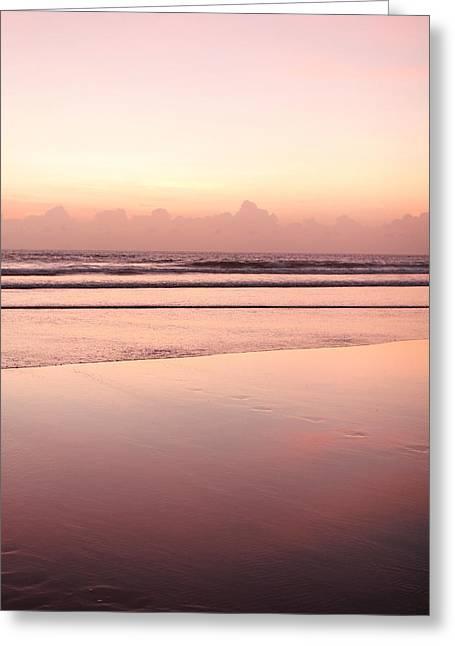 Matsu Greeting Cards - Sandy Beach In Red Dawn Sky Greeting Card by Hakai Matsu
