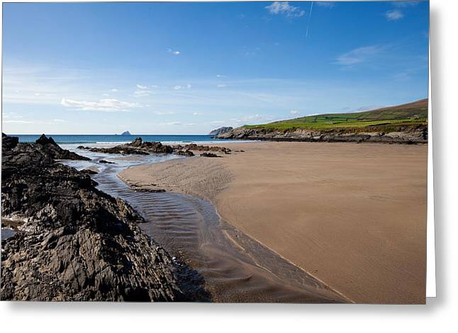 Sandy Beaches Greeting Cards - Sandy Beach Near Killonecaha, Ring Greeting Card by Panoramic Images