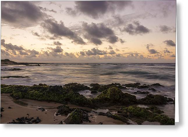 Brianharig Greeting Cards - Sandy Beach Sunrise 10 - Oahu Hawaii Greeting Card by Brian Harig
