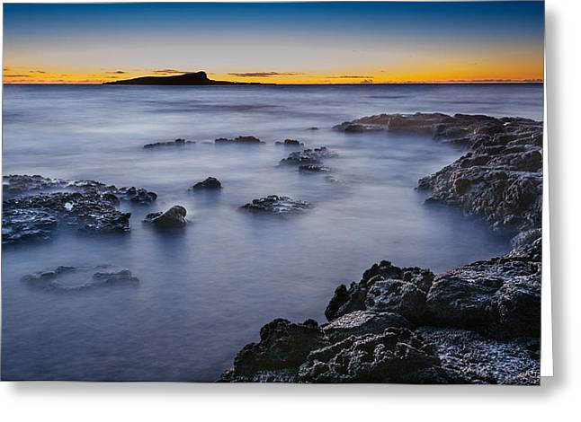 Top Seller Greeting Cards - Sandy Beach Sunrise at East Oahu Greeting Card by Tin Lung Chao