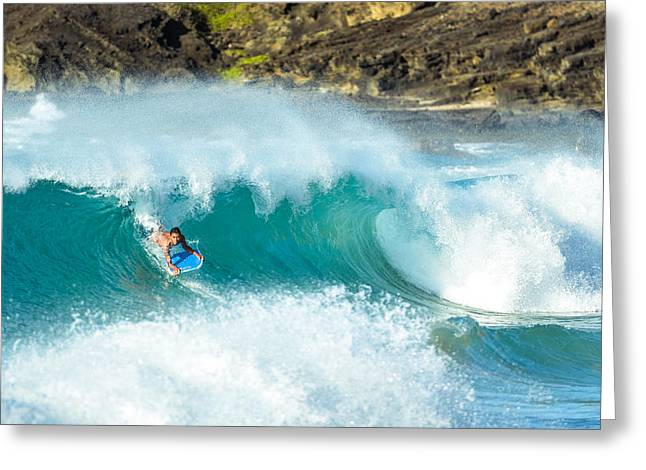 Lahaina Greeting Cards - Sandy beach surfing  Greeting Card by Tin Lung Chao