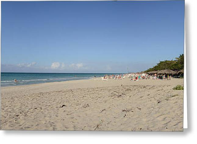 Matanzas Greeting Cards - Sandy Beach, Varadero Beach, Varadero Greeting Card by Panoramic Images