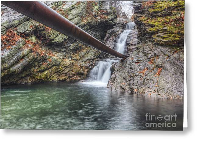 Tonemapping Greeting Cards - Sandy Falls Greeting Card by Aaron Campbell
