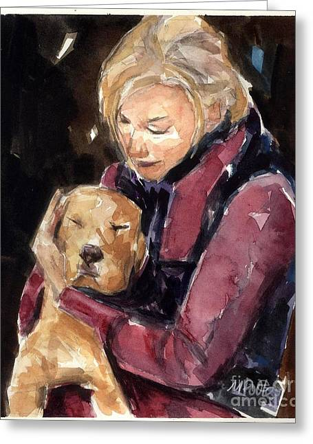 Animal Rescue Greeting Cards - Sandy Grace and Me Greeting Card by Molly Poole