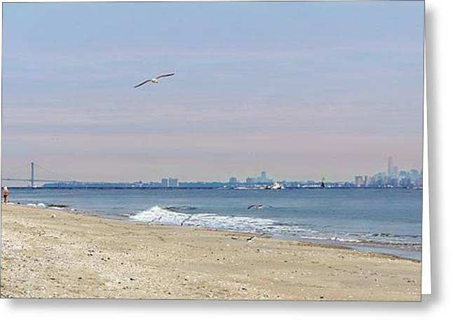 York Beach Greeting Cards - Sandy Hook Beach  Greeting Card by Lilliana Mendez