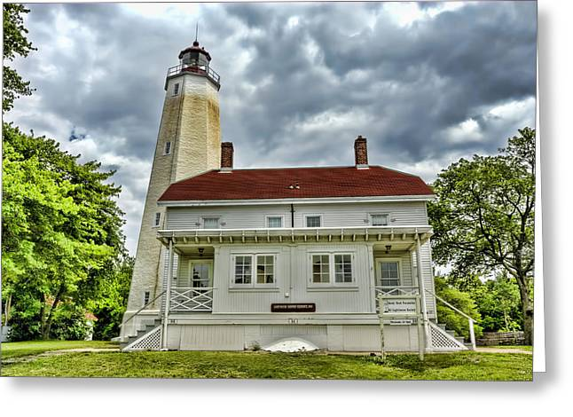 Lamdscape Greeting Cards - Sandy Hook Lighthouse  Greeting Card by Geraldine Scull