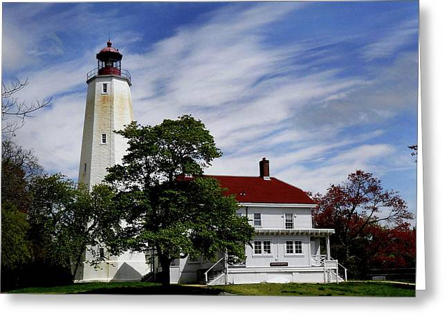 Photos Of Lighthouses Greeting Cards - Sandy Hook Lighthouse Nj Greeting Card by Skip Willits