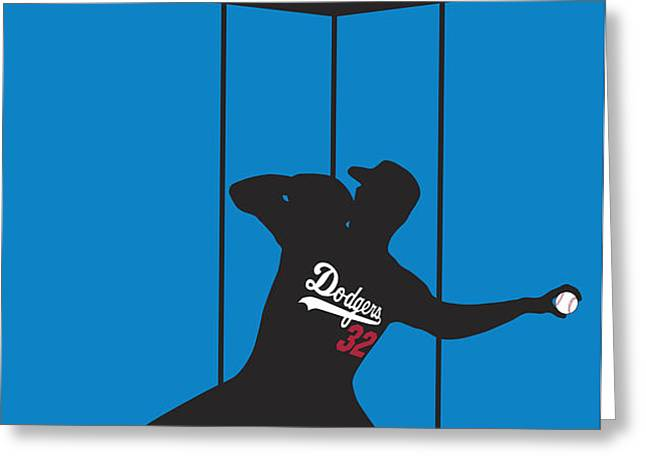 Sandy Koufax Perfect Gem Greeting Card by Ron Regalado