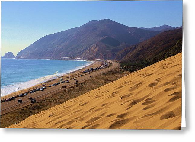 Recently Sold -  - Ventura California Greeting Cards - Sandy Mugu Point Looking North Greeting Card by Viktor Savchenko