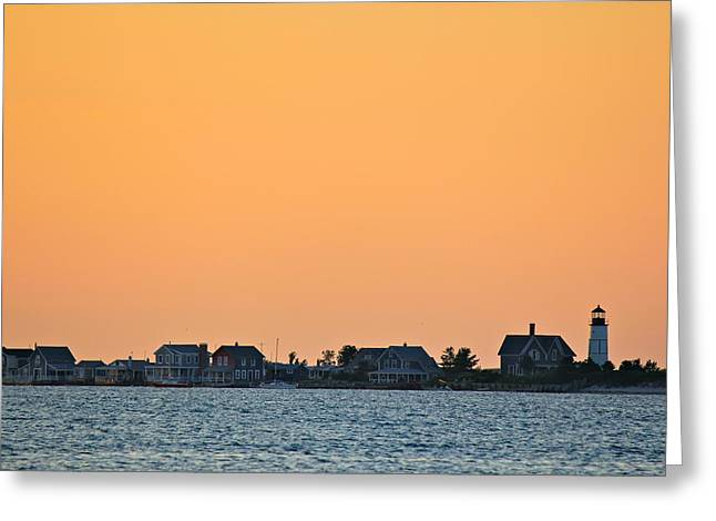 Sandy Neck Lighthouse Greeting Card by Amazing Jules