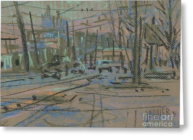 Sandy Plains Road Greeting Card by Donald Maier