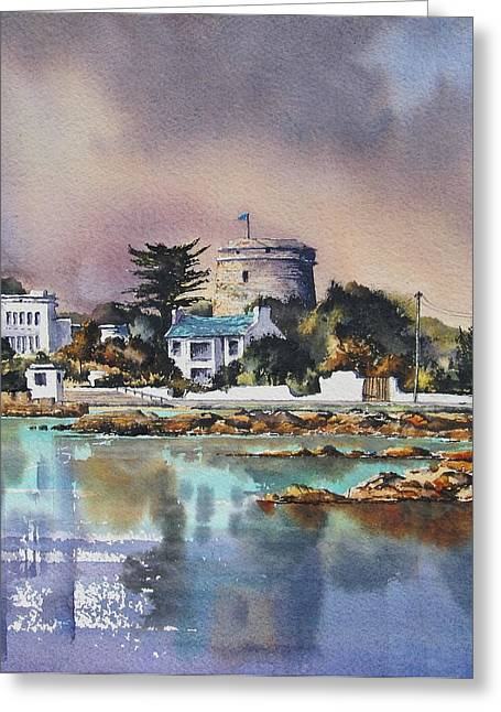 Southside Paintings Greeting Cards - Sandycove Greeting Card by Roland Byrne