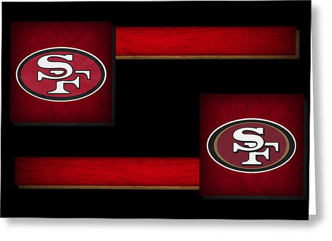 49ers Greeting Cards - Sanfrancisco 49ers Greeting Card by Joe Hamilton
