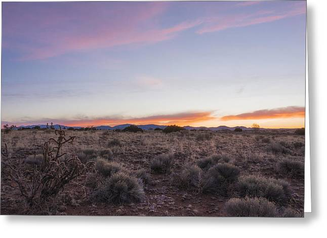 Northern New Mexico Greeting Cards - Sangre de Christo Mountains Sunrise 2 - Santa Fe New Mexico Greeting Card by Brian Harig