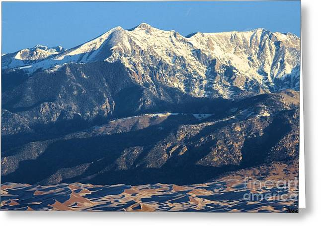 Large Sand Dunes Greeting Cards - Sangre de Cristo Mountains Greeting Card by Adam Jewell