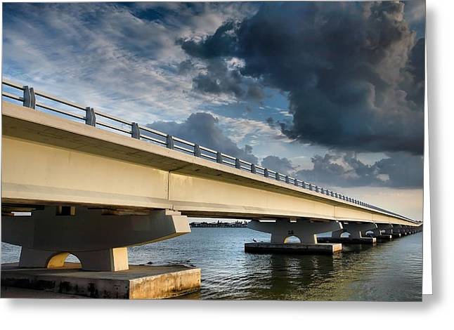 Storm Prints Greeting Cards - Sanibel Causeway I Greeting Card by Steven Ainsworth