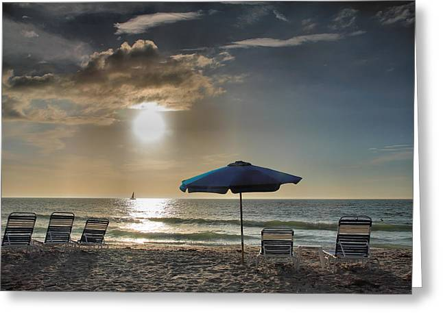 Sanibel Ease II Greeting Card by Steven Ainsworth