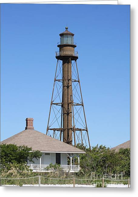 Sanibel Island Light Greeting Card by Christiane Schulze Art And Photography