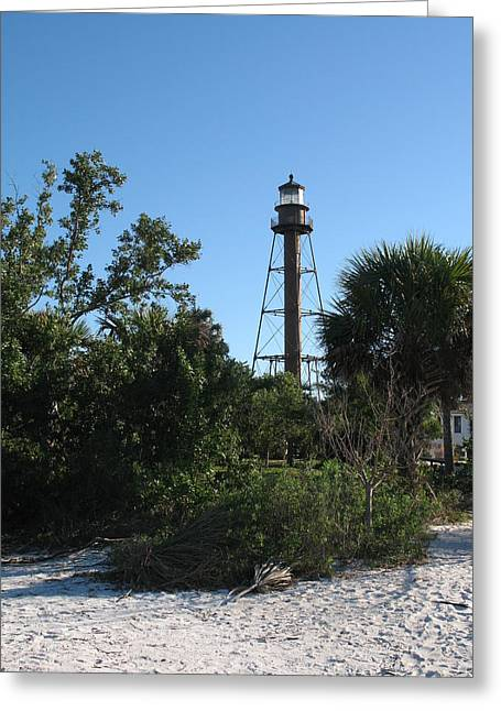 Forida Greeting Cards - Sanibel Island Lighthouse Greeting Card by Christiane Schulze Art And Photography