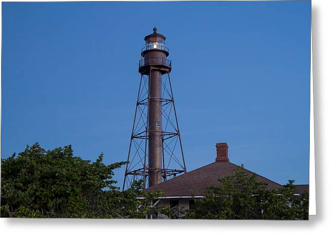 Captiva Greeting Cards - Sanibel Island Lighthouse Greeting Card by Kim Hojnacki