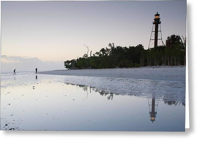 Lighthouse Prints Greeting Cards - Sanibel Lighthouse II Greeting Card by Steven Ainsworth