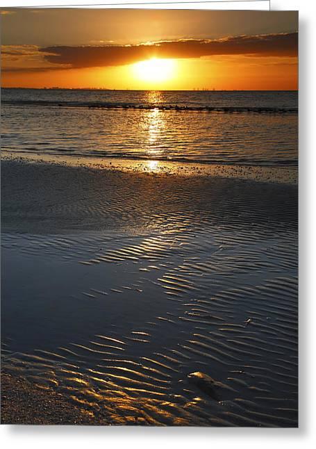 Ocean Prints Photographs Greeting Cards - Sanibel Sunrise X Greeting Card by Steven Ainsworth