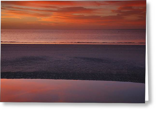 Sunset Prints Greeting Cards - Sanibel Sunset I Greeting Card by Steven Ainsworth