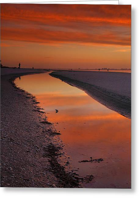 Sunset Prints Greeting Cards - Sanibel Sunset II Greeting Card by Steven Ainsworth